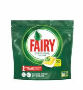 Fairy Original All in One Λεμόνι 20 κάψουλες