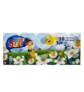Happy Sun Χαρτί Υγείας Μπλε 3φυλ 10τεμ 95gr