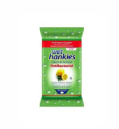 Wet Hankies Αντιβακτηριδιακά Αλκοολούχα Μαντηλάκια Πράσινο 15τεμ