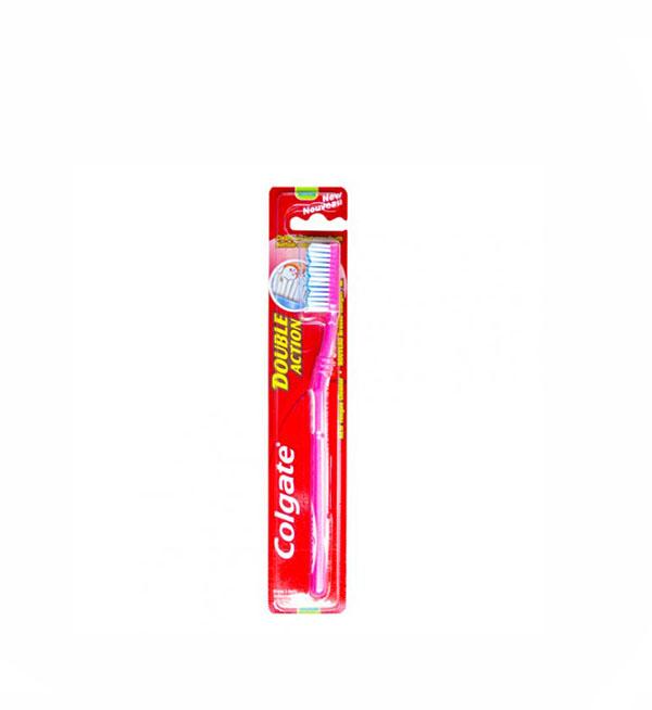 Colgate Double Action Οδοντόβουρτσα Medium Ροζ