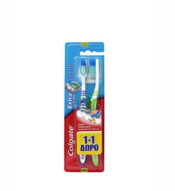 Colgate Οδοντόβουρτσα Extra Clean Medium 2τεμ