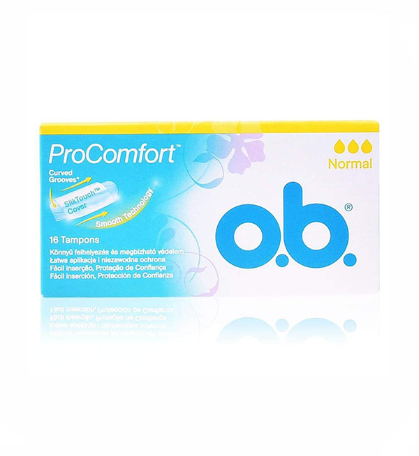 O.B Pro Comfort Curved Grooves Normal Ταμπόνς 16τεμ
