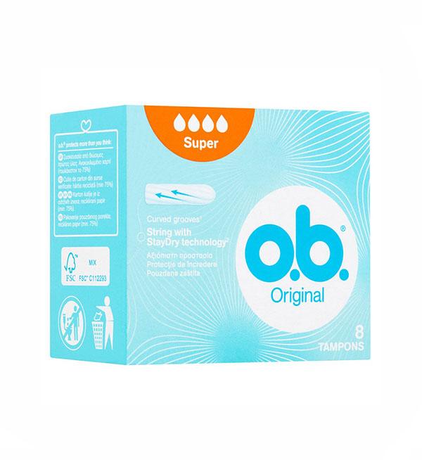 O.B Original Super Ταμπόνς 8τεμ