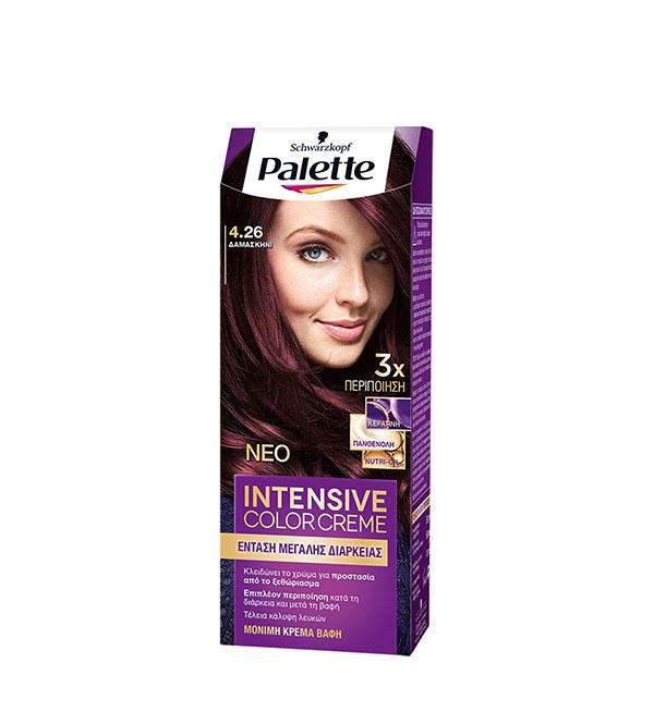 Palette Βαφή Μαλλιών Intensive Color Cream Δαμασκηνί No 4.26 (110ml)