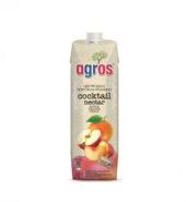 Agros Χυμός Cocktail (Νέκταρ Μήλο Πορτοκάλι Ροδάκινο) 1000ml