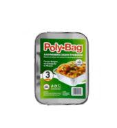 Poly Bag Αλουμινενια Σκεύη Τροφίμων Για Τον Φούρνο ,Κατάψυξη Και ψυγείο Νο204 3Τεμ